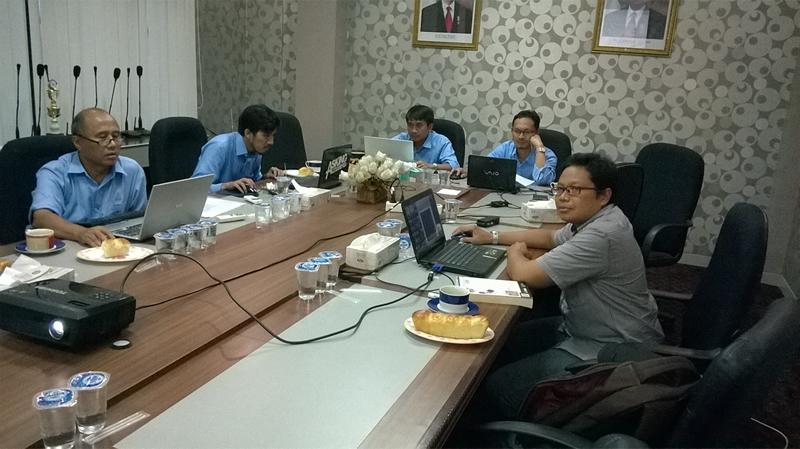 Tempat pelatihan di PT. Ambapers Banjarmasin, program AutoCAD 2014 dengan jumlah peserta 8 orang.